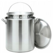 CRAWFISH POT 100 Qt. Stockpot w/Lid & Basket- Aluminum