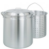 CRAWFISH POT 42 Qt. Fryer/Steamer w/Lid & Basket- Aluminum