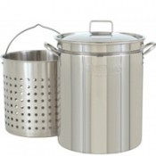 CRAWFISH POT 62 Qt. Fryer/Steamer w/Lid & Basket- Stainless