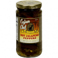 Whole Cajun Chef Hot Jalapeno Peppers 12 oz