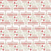 Cajun Christmas Tree Wrapping Paper