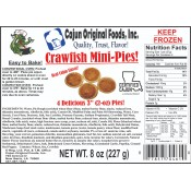 Cajun Original Cajun Crawfish Pie (MINI) 4 - 2 oz Pies