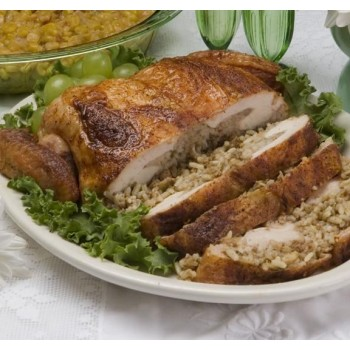 Deboned Chicken Stuffed with Rice, Beef & Pork Dressing