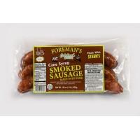 Foreman's Cane Syrup Smoked Sausage 16 oz