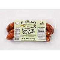Foreman's Smoked Pork & Venison Sausage 16 oz