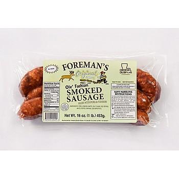 Foremans Smoked Pork & Venison Sausage