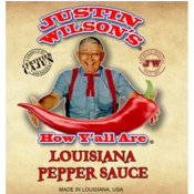 Justin Wilson - Louisiana Pepper Sauce 8 oz