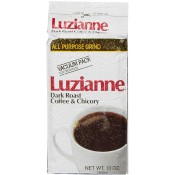 Luzianne Dark Roast Coffee & Chicory White Label 13 oz