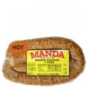 Manda's Hot Smoked Pork Sausage