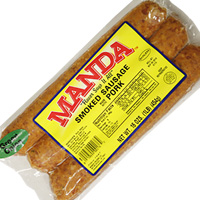 Manda's Smoked Green Onion Pork Sausage 16 oz