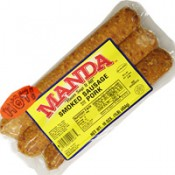 Manda's Smoked Pork Sausage Hot