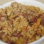 Monica's Cajun Chicken & Sausage Jambalaya