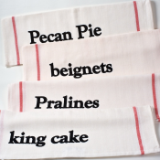 NOLA Sweets Set of 4 Kitchen Towels