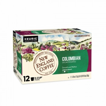 New England Coffee Colombian Decaffeinated Single Serve 12 ct Box