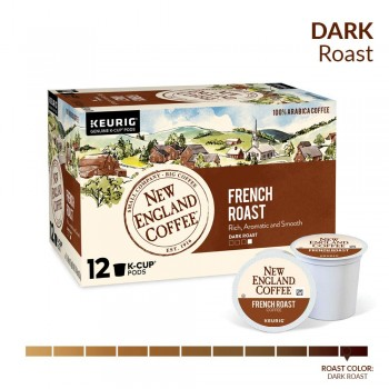 New England Coffee French Roast Single Serve 12 ct Box