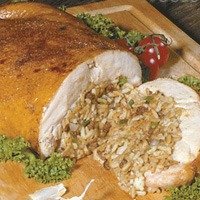 Poche's Stuffed Chicken w/ Cajun Rice