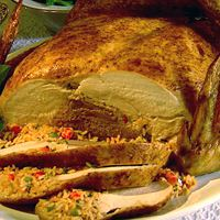 Poche Bridge Turducken Cornbread and Rice Dressing