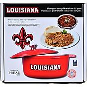 Red Louisiana Dutch Oven Jambalaya Pot