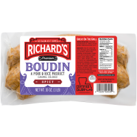 Richard's Hot Pork Boudin 16 oz