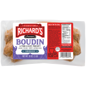 Richard's Smoked Pork Boudin 16 oz