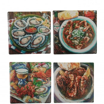 Seafood Coasters (Set of 4)