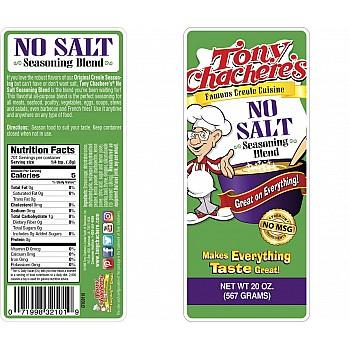 Tony Chachere's No Salt Seasoning 20 oz