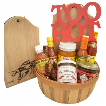 Who Dats Hot Sauce Gift Basket