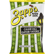 Zapp's Cajun Dill Potato Chips Gator-tator