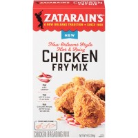 Zatarain's New Orleans Style Hot & Spicy Chicken Fry Mix 9 oz